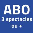 L'ABONNEMENT 3 SPECTACLES ET +